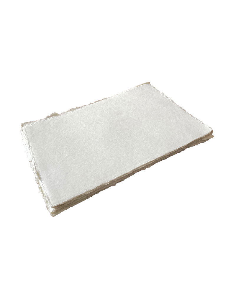 Set 25 sheets of cotton paper with deckled edge, 200 gsm