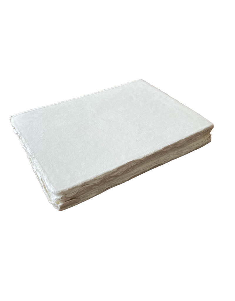 Ensemble de 50 cartes papier de coton avec deckle, 200 grammes