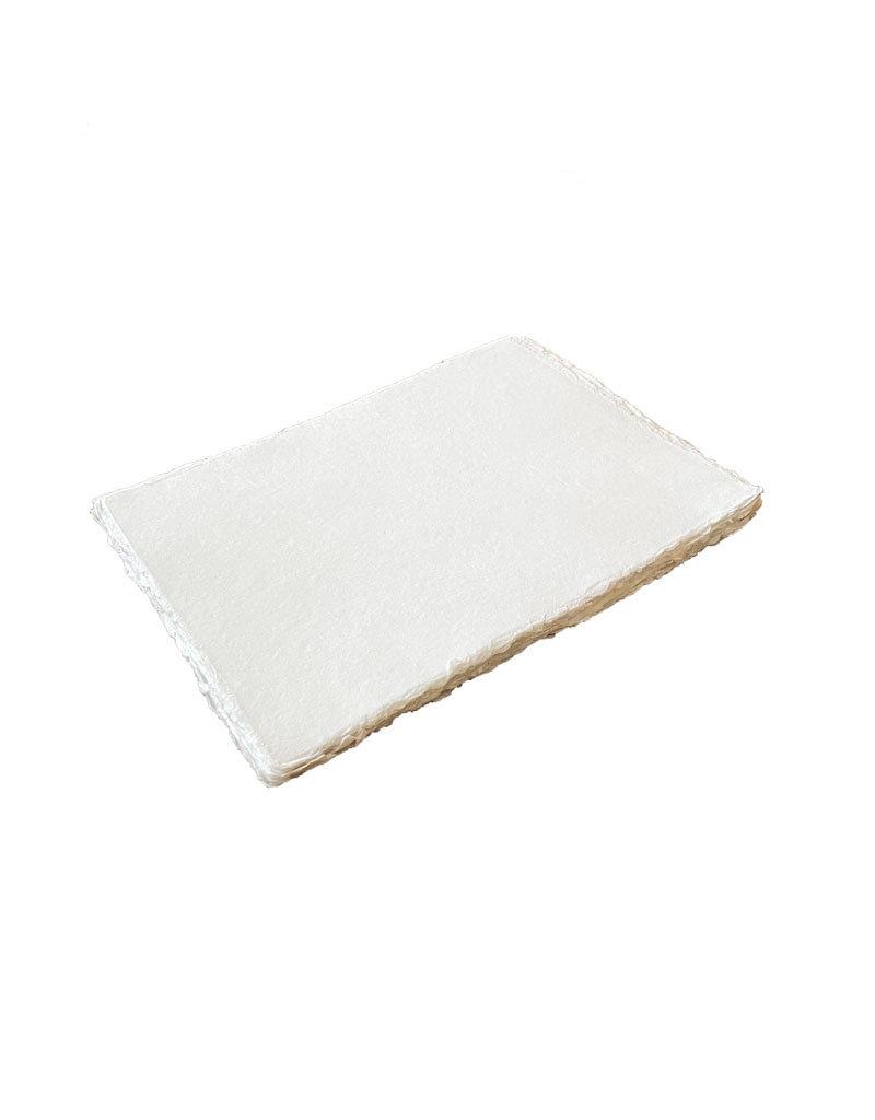 Lot de 25 feuilles de papier de coton avec deckle, 200 gr