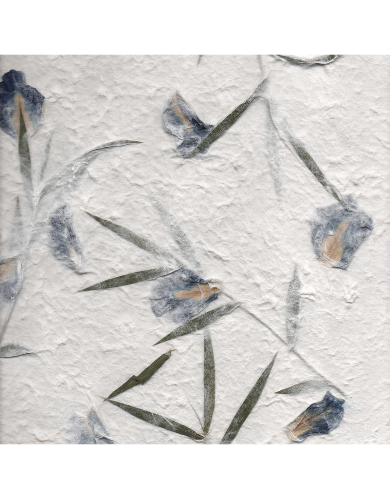 Mulberrypaper with pea flowers