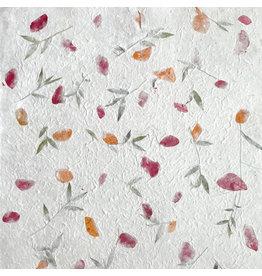 TH889 Papier de mûrier melange de fleurs