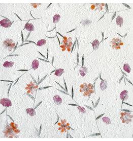 TH079 Maulbeerpapier mit Blumen
