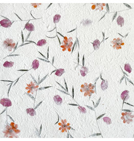 TH079 Mulberrypaper with flowers