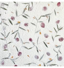 TH882 Mulberry papier met bloemen-mix