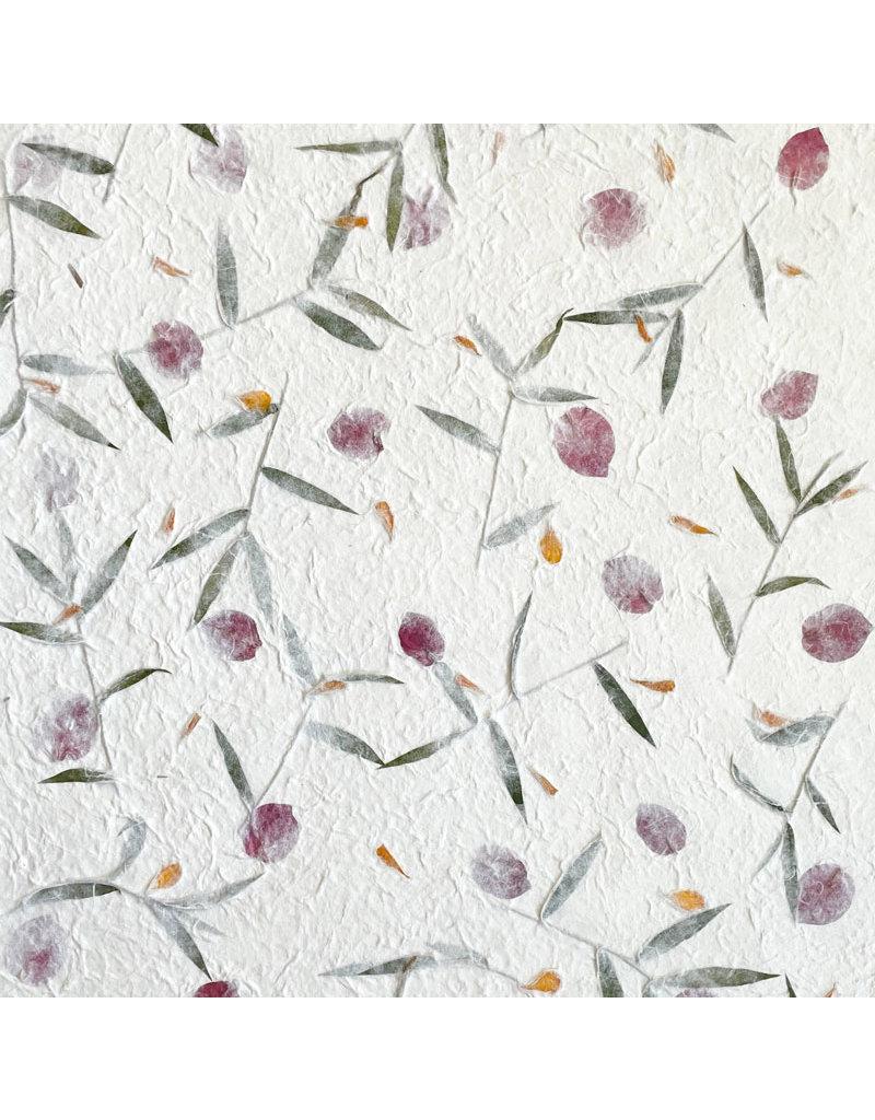 Mulberry papier met bloemen-mix