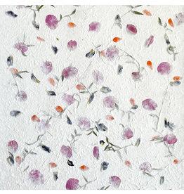 TH863 Papier de mûrier melange de fleurs