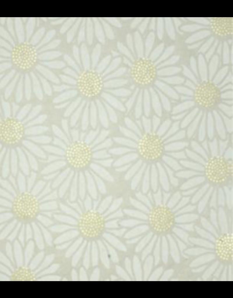 Lokta papier met een print van zonnebloemen