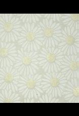 Carnet  papier lokta et impression en tournesol.