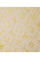 Notebook cover  lokta paper with a print of sunflowers.