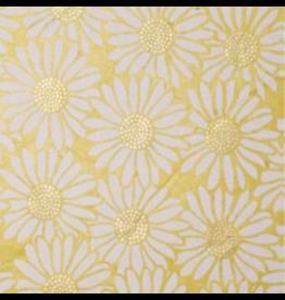 NE819 Lokta papier  zonnebloemen