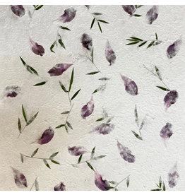 TH896 Papier de mûrier avec des fleurs de Chong co