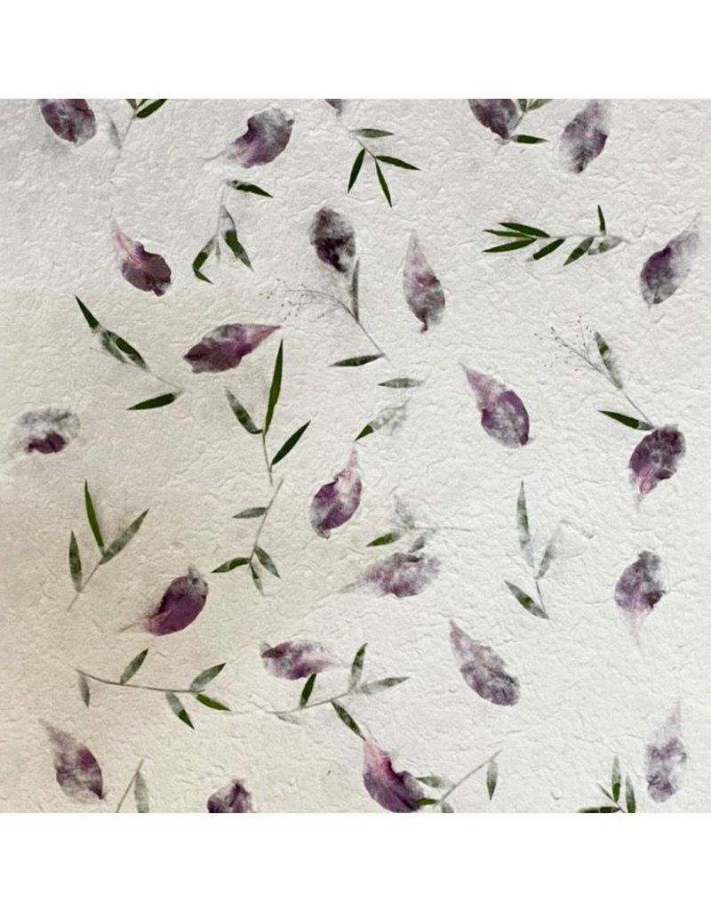 Mulberrypaper with Chong co flowers