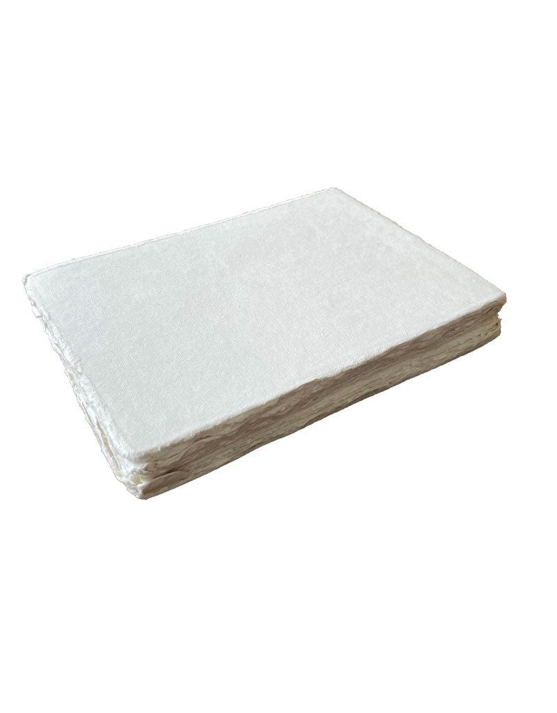 Set 50 kaarten katoenpapier met scheprand, 200 grams