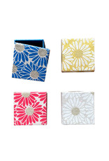 set of 4 boxes with sunflower
