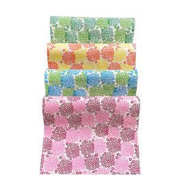 NE006 Papier Lokta avec une impression hortensia en 2 couleurs