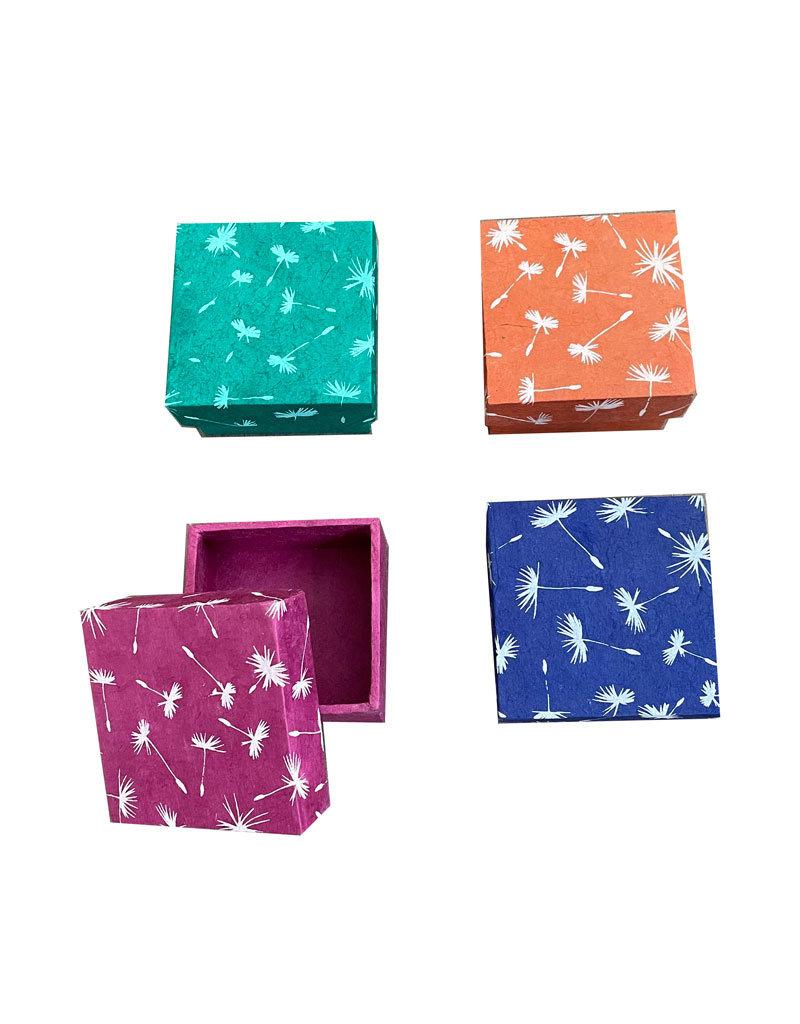 Set mit 4 Schachteln aus Lokta-Papier
