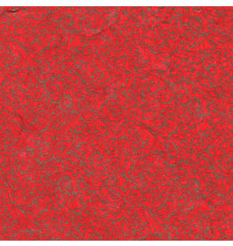 TH854 mulberrypapier rood met gouden print