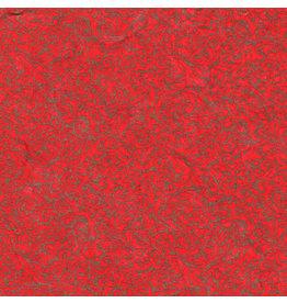 TH854 papier mûrier rouge avec impression or