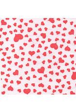 Maulbeerbaumpapier, weiß mit roten Herzen