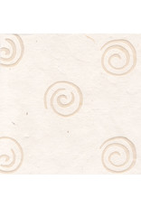 Mulberry paper with spirals of wax