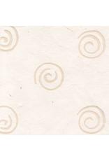 Mulberrypapier met spiralen van was