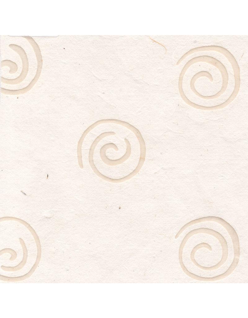 Maulbeerpapier mit Spiralen aus Wachs