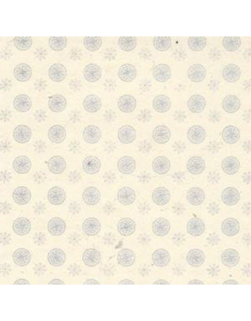 Lokta paper  flower/cirkel print