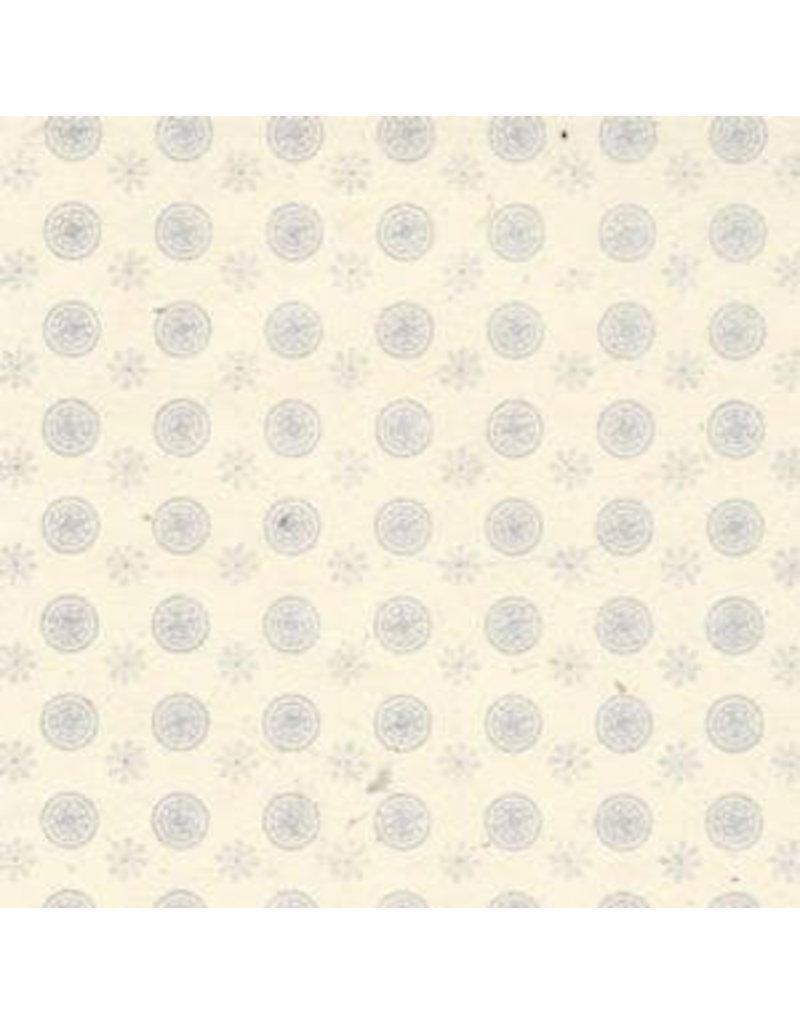 Papier lokta petites fleurs /cercle