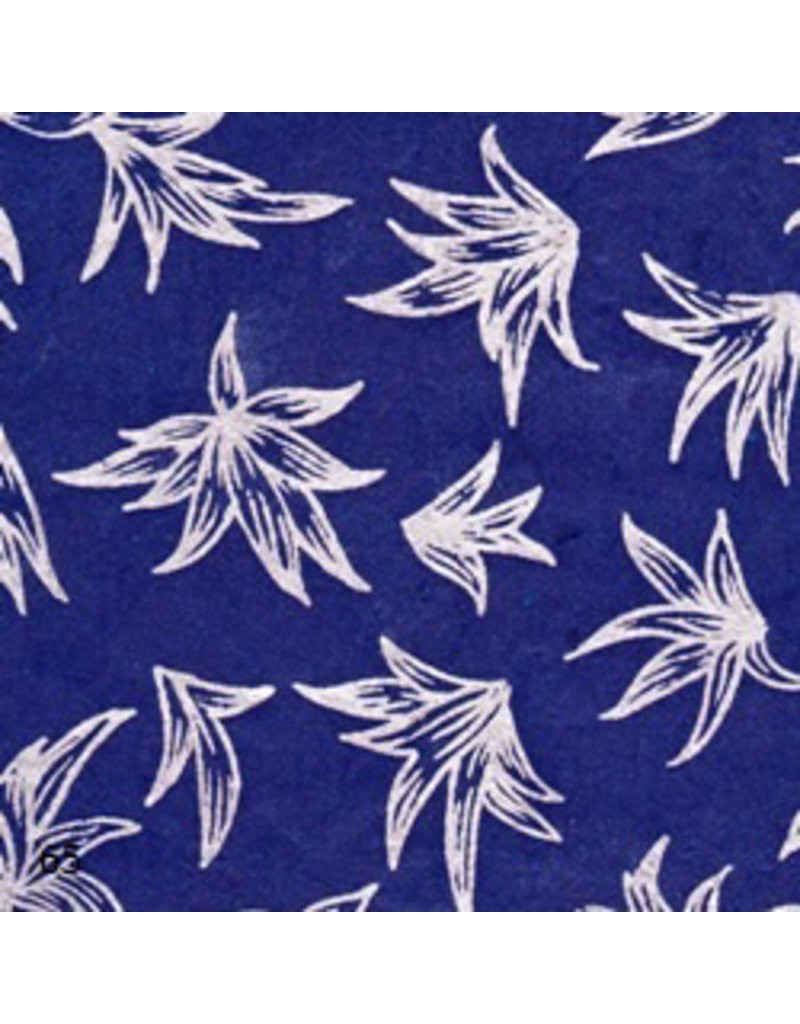 Lokta paper with silver lily print