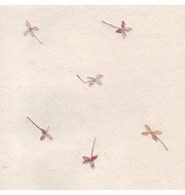 A4d72  Set 25 vel  Gampi papier met bloemenmix