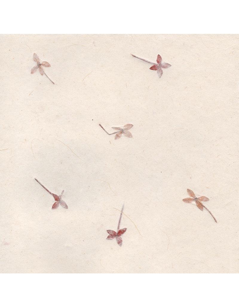 Papier de Gampi avec fleurs, 90 grs.