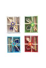 Set 4 gift boxes mixed colours