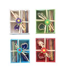 TH331 Set 4 boîtes a cadeaux couleurs mixte