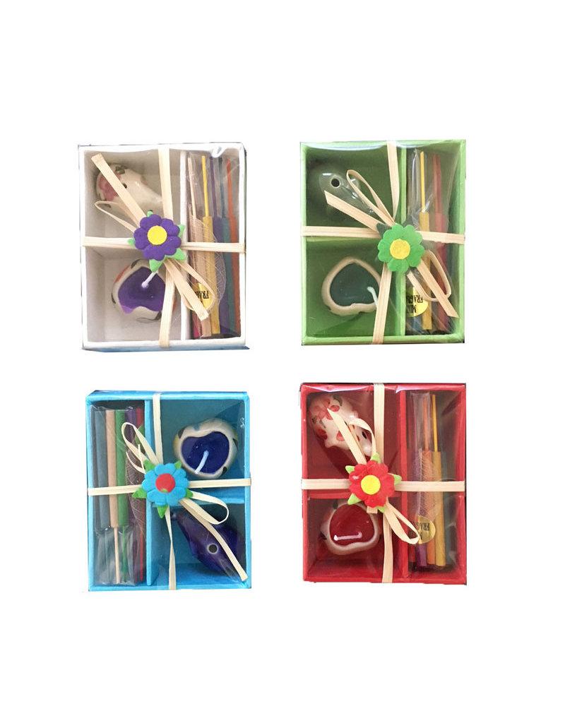 Set 4 giftboxes mix kleuren