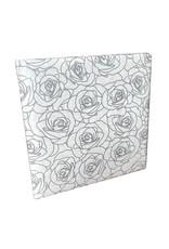 Livre d'or, impression de roses argentées