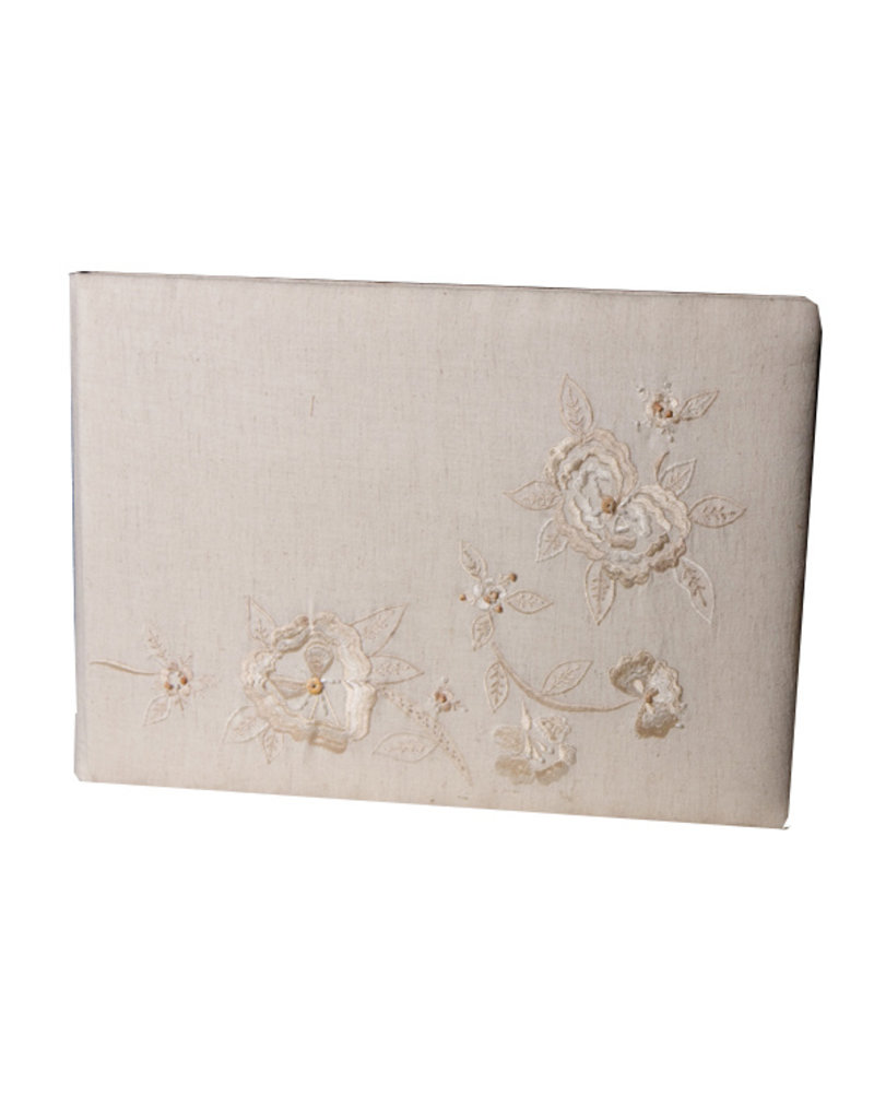 album cotton, with embroidery.
