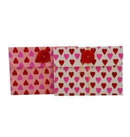 NE412 lot de 6 enveloppes cadeaux petits coeurs