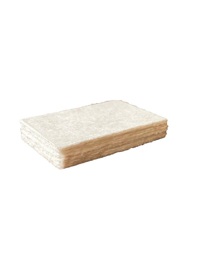 Set 25 kaarten mulberrypapier, met scheprand,200grs