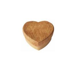 TH289 Boîte en forme de cœur avec écorce d'arbre
