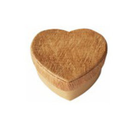 TH293 Boîte en forme de cœur avec écorce d'arbre