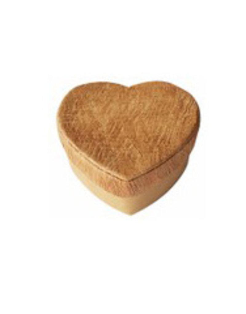 Boîte en forme de cœur avec écorce d'arbre