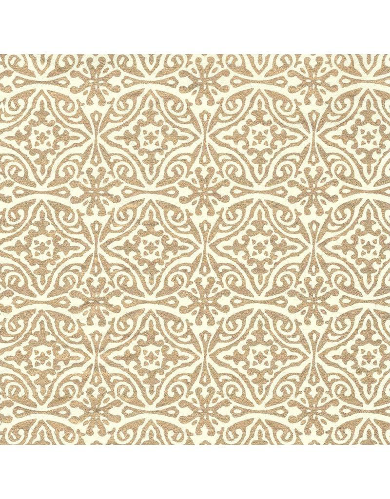 Katoenpapier met goud print