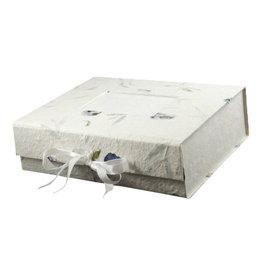 TH070 Erinnerungsbox Maulbeerpapier/Blumen