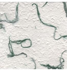 TH807  Maulbeerbaumpapier mit gruene Fasern
