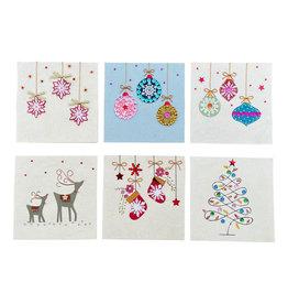 . PN310 Set 6 cards/envelopes Christmas design