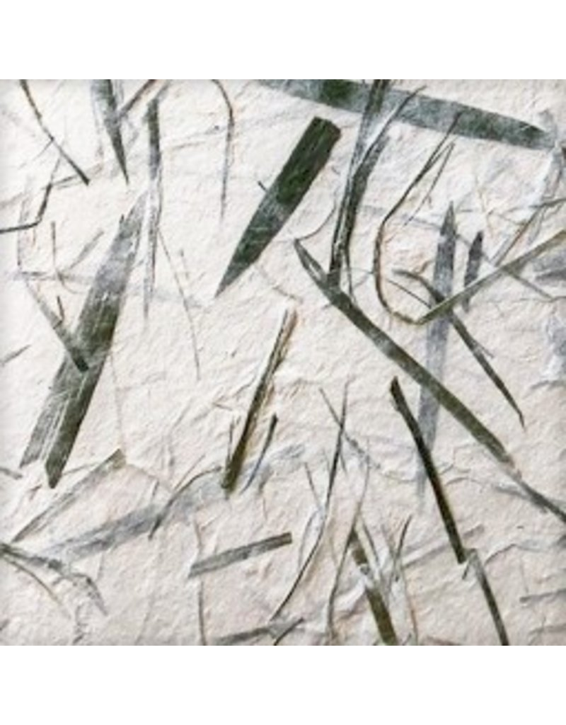 Mulberry paper with green fibres