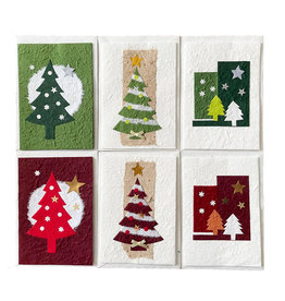 TH779 Set of 6 cards/envelopes Christmas