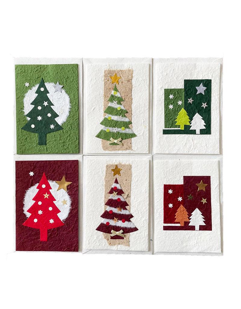 Set of 6 cards/envelopes Christmas