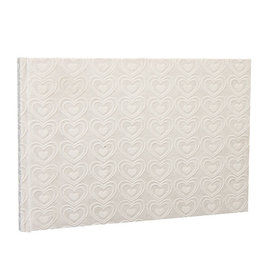 TH109 Guestbook embossed hearts