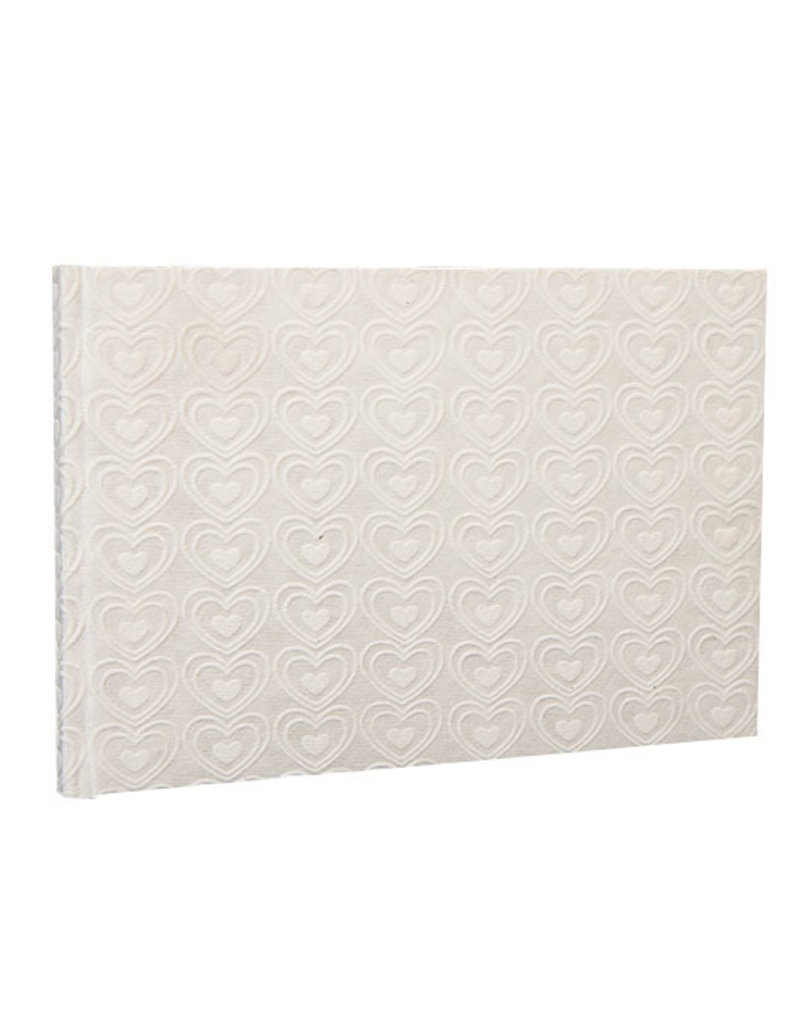 Guestbook embossed hearts